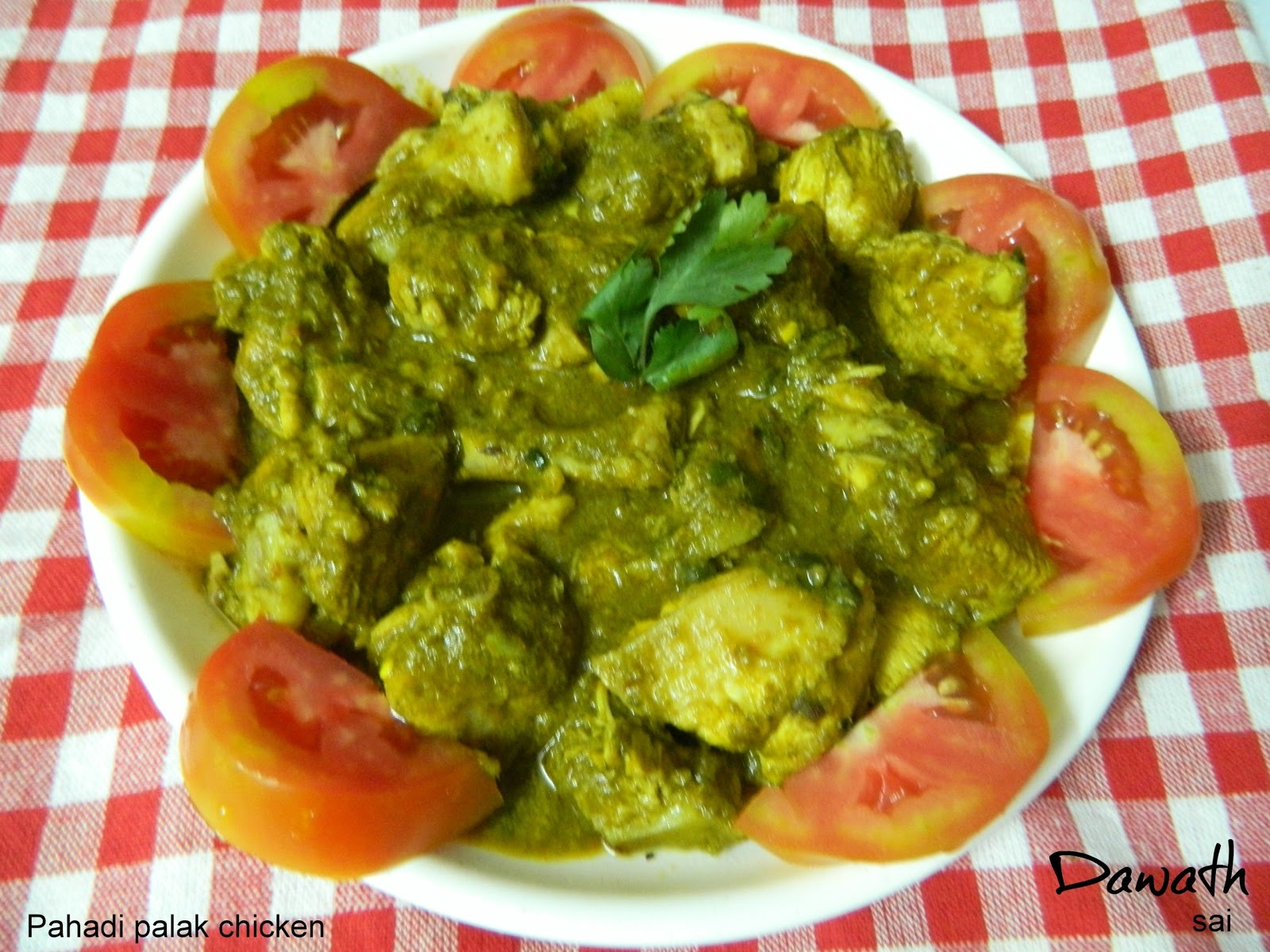 Pahadi palak chicken