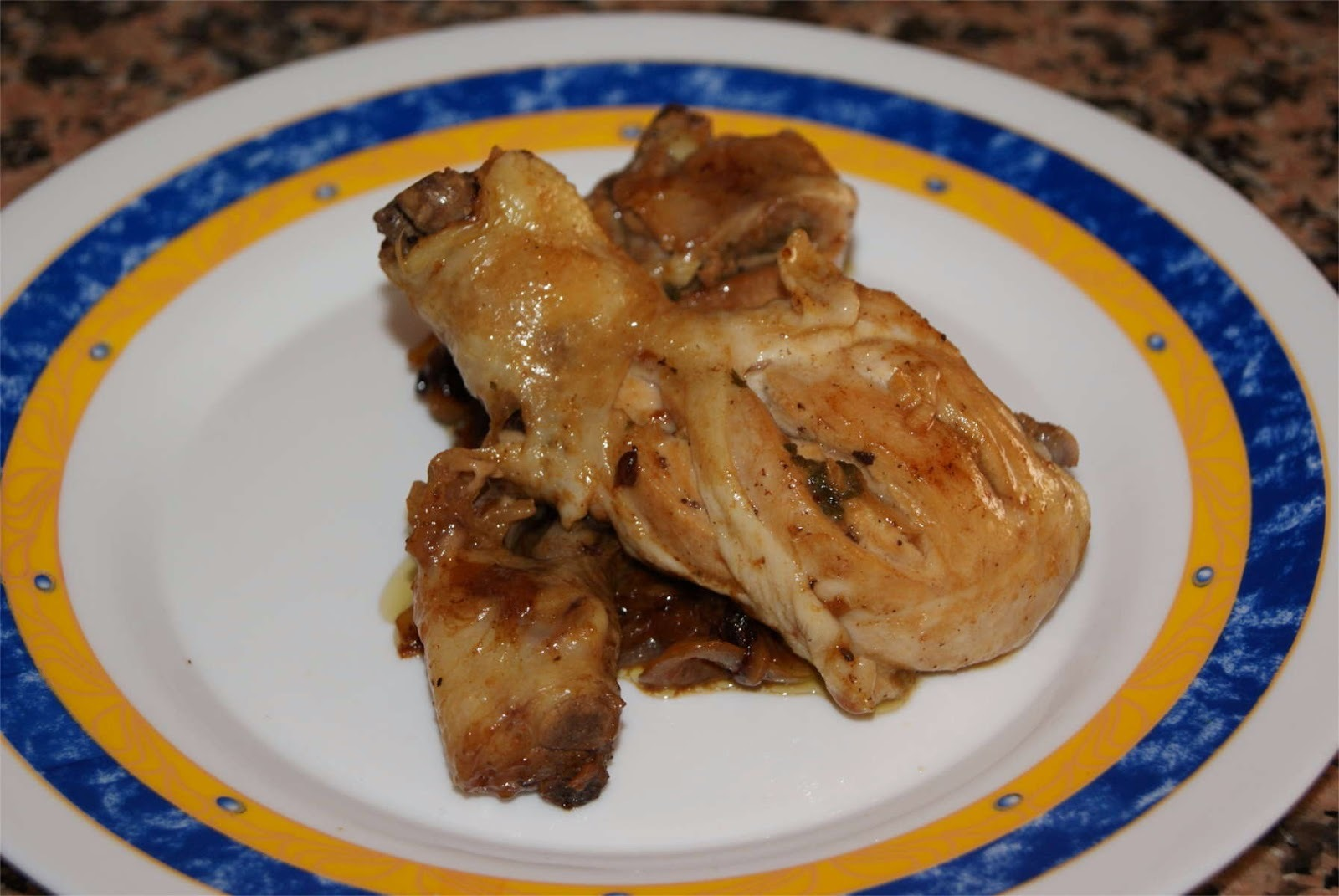 Pollo a la menta