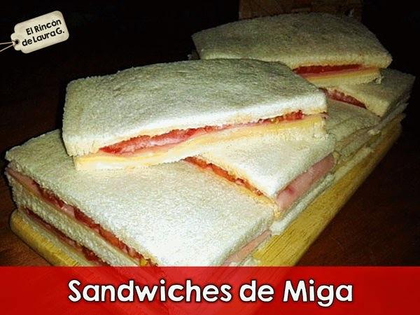 Receta de Sandwiches de Miga