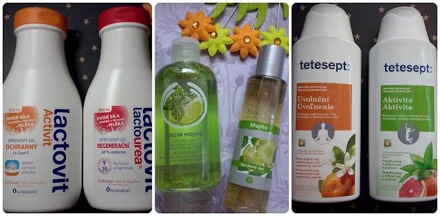 Sprchových gelů není nikdy dost: Lactovit, Saloos, The Body Shop a Tetesept