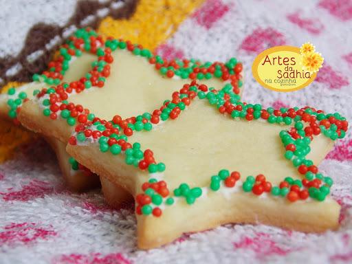 Biscoitinhos de natal  ( amanteigados ) de água de rosas