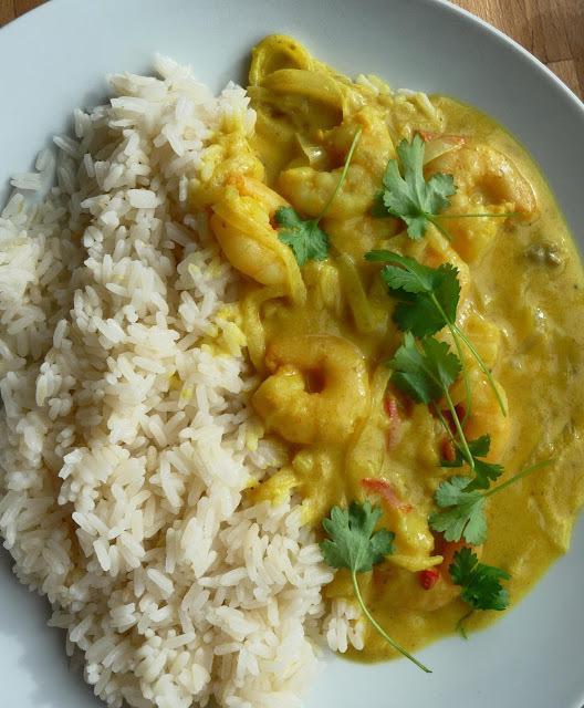 Keralan King prawn curry