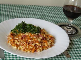 RISOTO ( o meu é mais arroz) DE CARNE SECA COM ABÓBORA