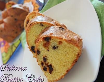 Sultana Butter Cake
