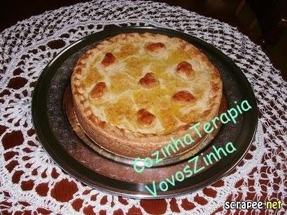 Torta de palmito com requeijão(massa podre)