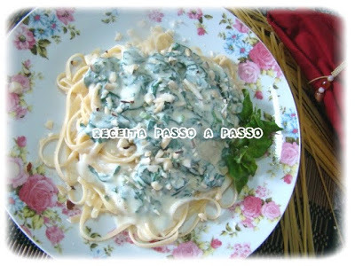 Massa ao Molho de Espinafre e Castanha-do-Brasil / Pasta with Spinach Sauce and Brazil Nut