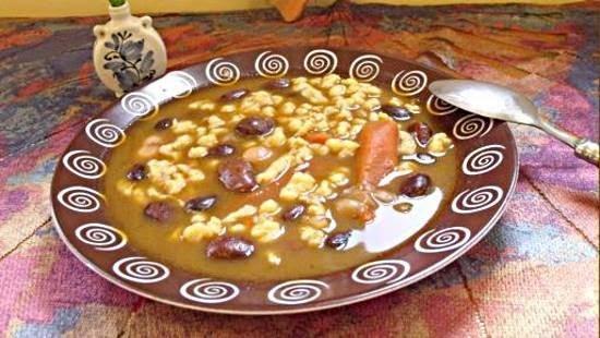 Tarkabab leves sajtgaluskával recept