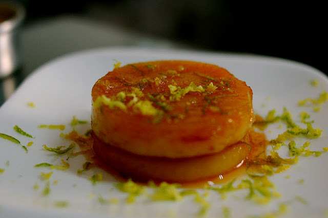 Pudim de bolacha Maizena com raspas de laranja