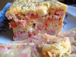 bolo salgado de pão de forma presunto e queijo