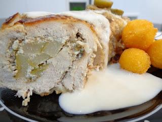 de pate de frango com creme de leite batata