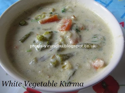 White Vegetable Kurma /Vellai Kurma – Restaurant Style