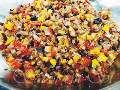 antepasto de berinjela com tomate seco