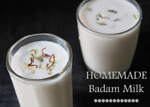 Badam Milk / Badam Kheer / Almond Saffron Milk / Almond Drink - Welcome Drink Ideas