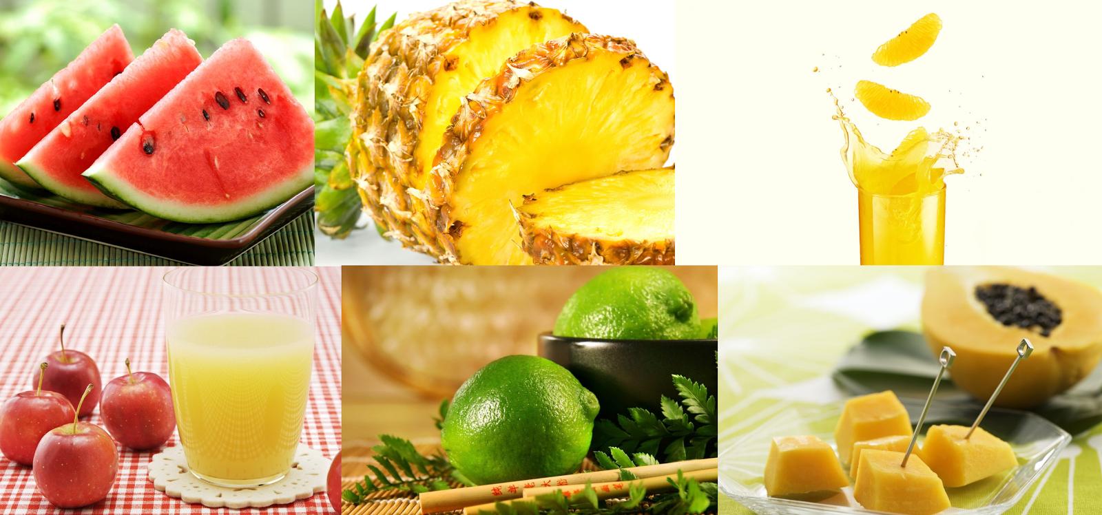 Sugestões de combinação de sucos de frutas