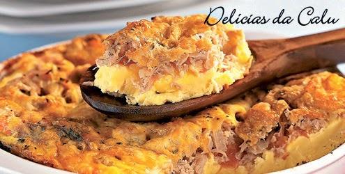 com omelete de sobra de carne assada no forno