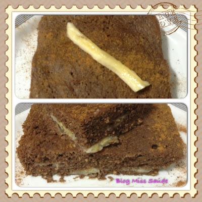 Mini bolo de Cacau e Banana Diet de Microondas