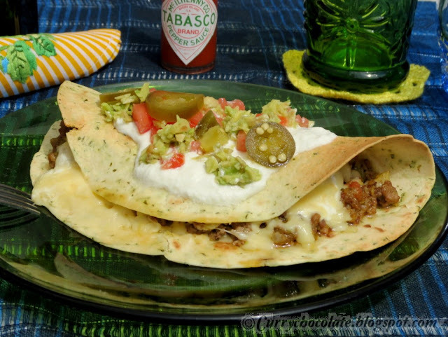 Quesadillas de ternera picada - Ground beef quesadillas