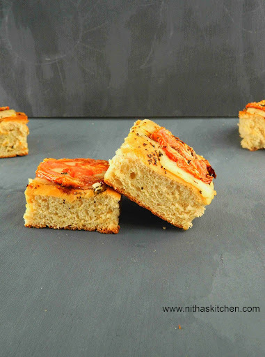 Focaccia Caprese | Italian Flat Bread