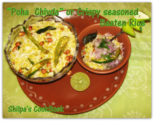 crispy beaten rice chivda