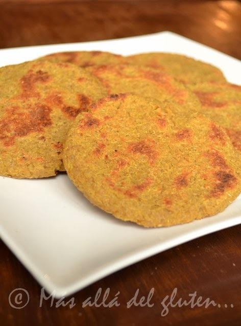 Arepas de Quinua (Receta GFCFSF, Vegana)