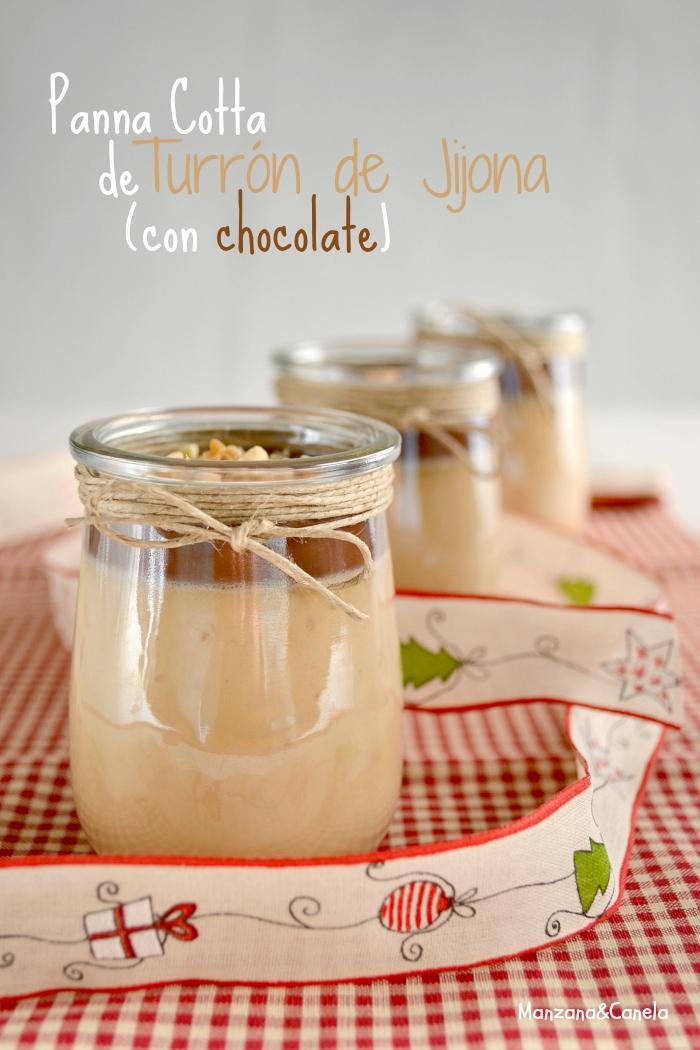 Panna Cotta de turrón de Jijona con chocolate (y un regalo de Navidad!)
