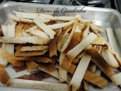 Torradinha de pão de forma
