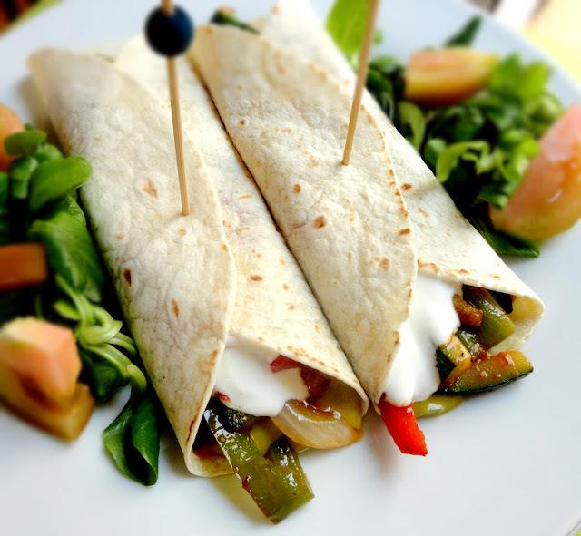 Fajitas Mexicanas de verduras