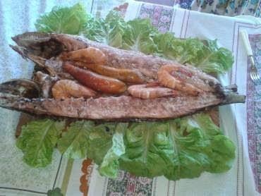 Peixe Grelhado com Camarão