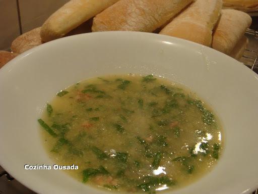 sopa de polenta com couve polenta instantanea