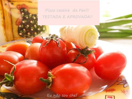 Pizza caseira da Favi