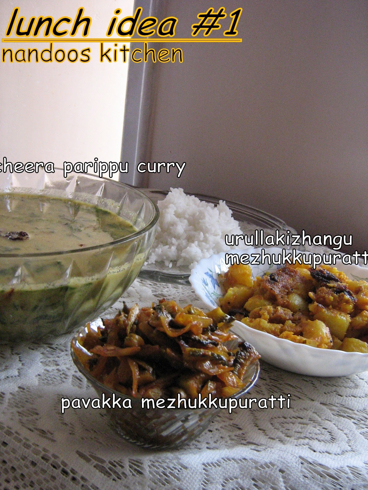 Lunch menu - Easy kerala lunch