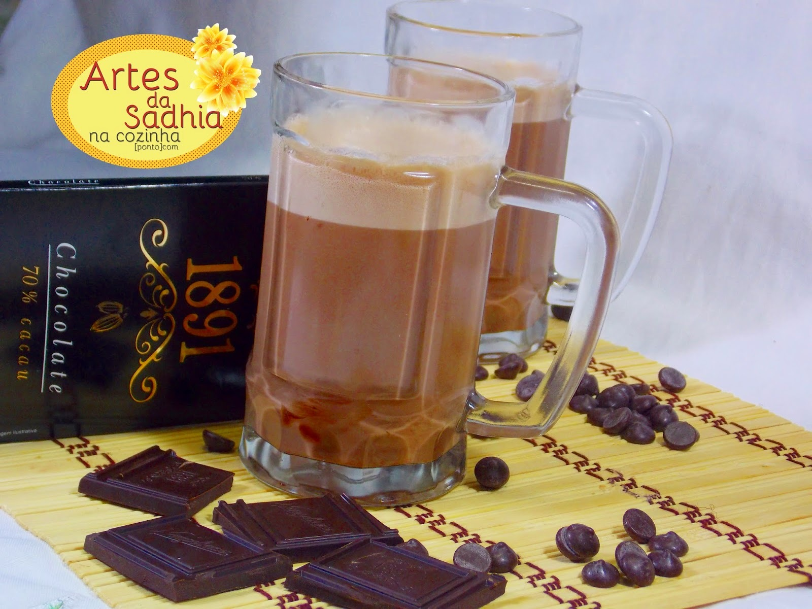 Chocolate quente gourmet