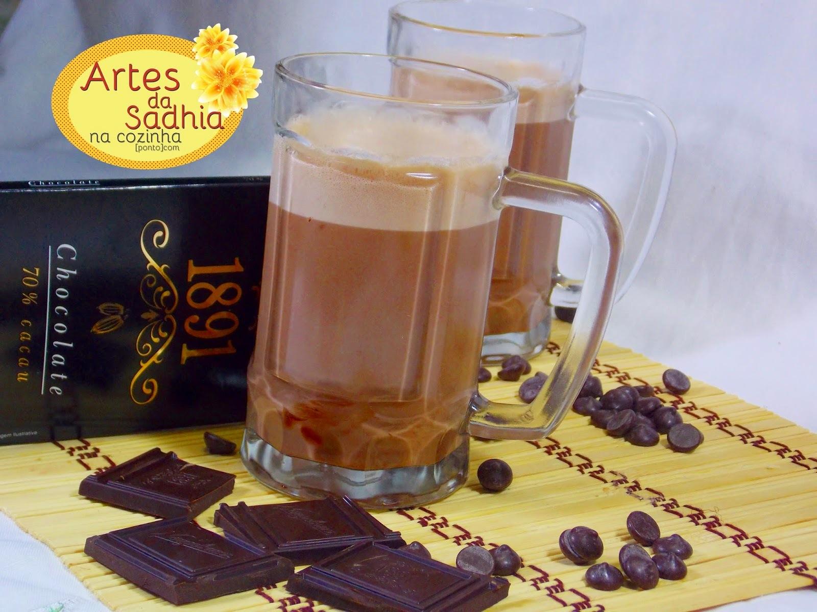 chocolate quente receita sabor intenso