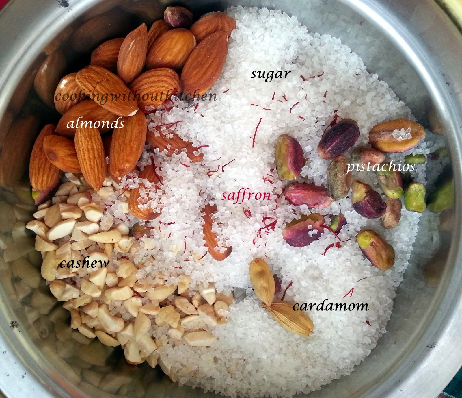 Instant milk masala or Indian dessert topping