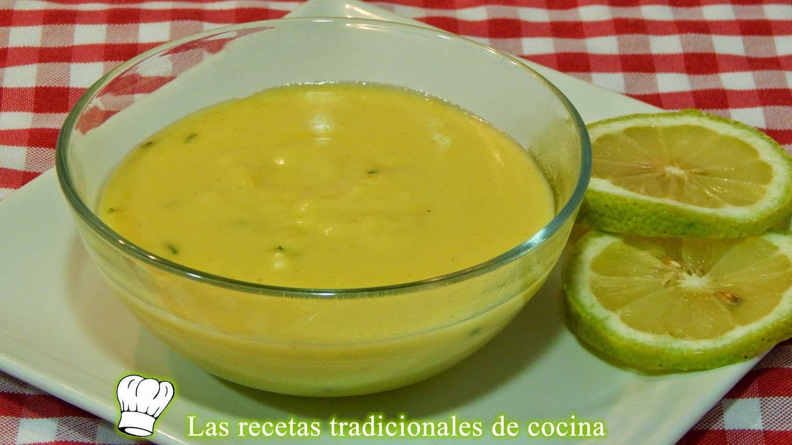 Receta de salsa de limón