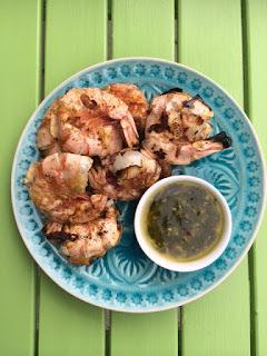 Gegrillte Crevetten mit Chimichurri Sauce