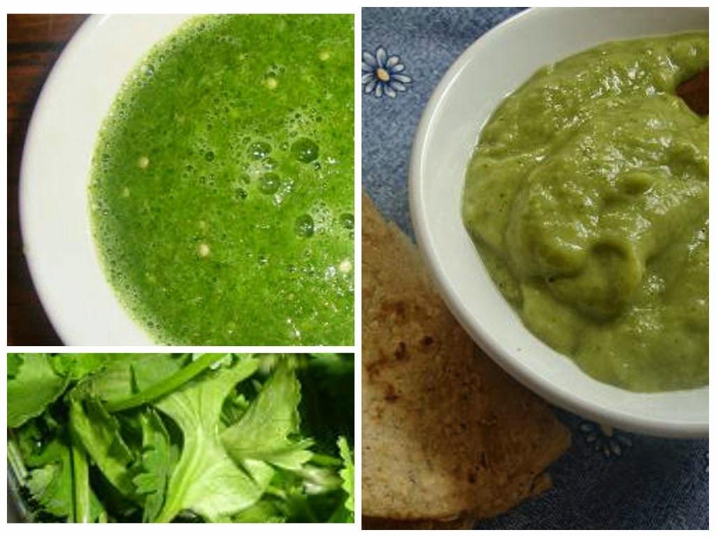Salsa verde con y sin aguacate