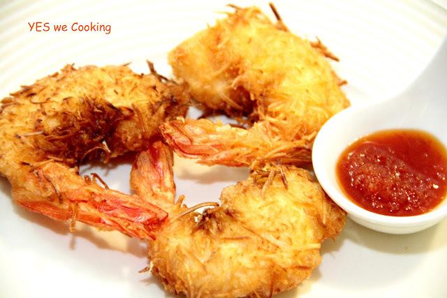 camarão empanado simples