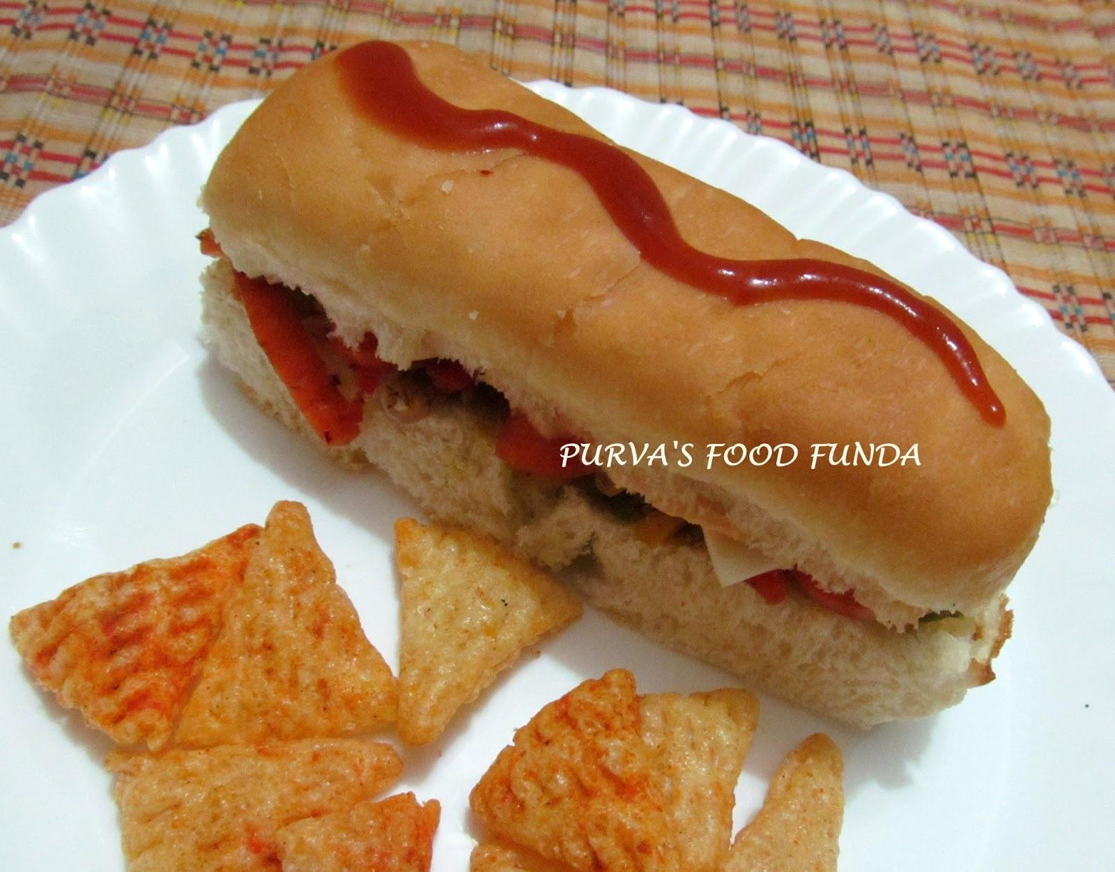 Subway Style Veggie Sandwich