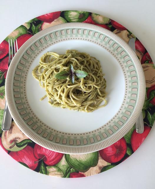 Dia Mundial do Macarrão - Espaguete ao Pesto!!!