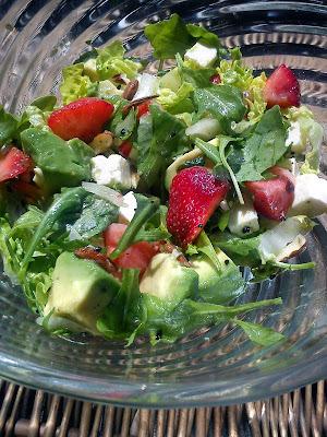 Jordbær sommer salat.