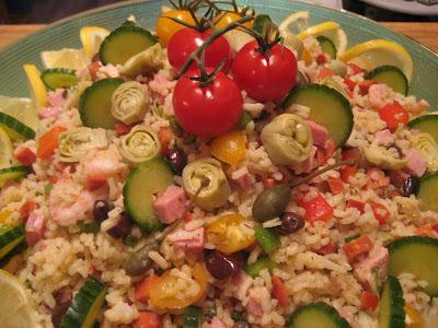 Salade de riz style paëlla