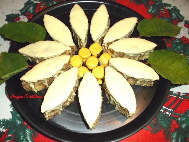 Pastel de Nochebuena con chocolate blanco