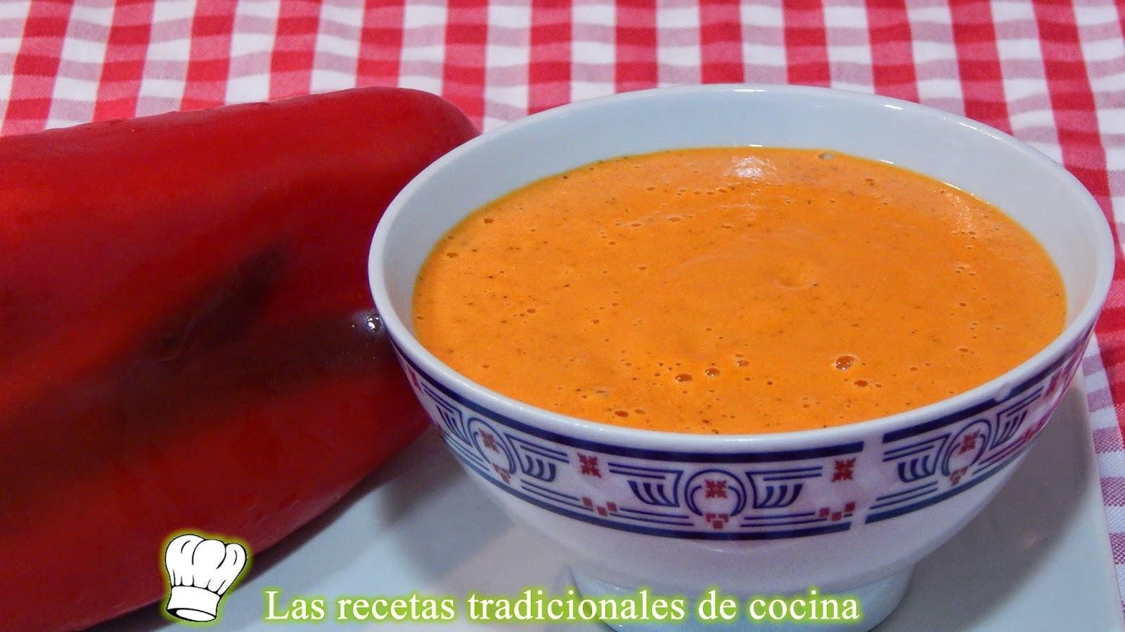 Receta fácil de salsa de pimientos rojos
