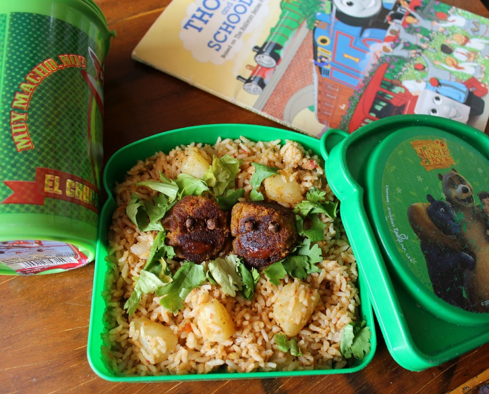 Potato Biryani and Vegetable Kofta - Kid's Lunch Series