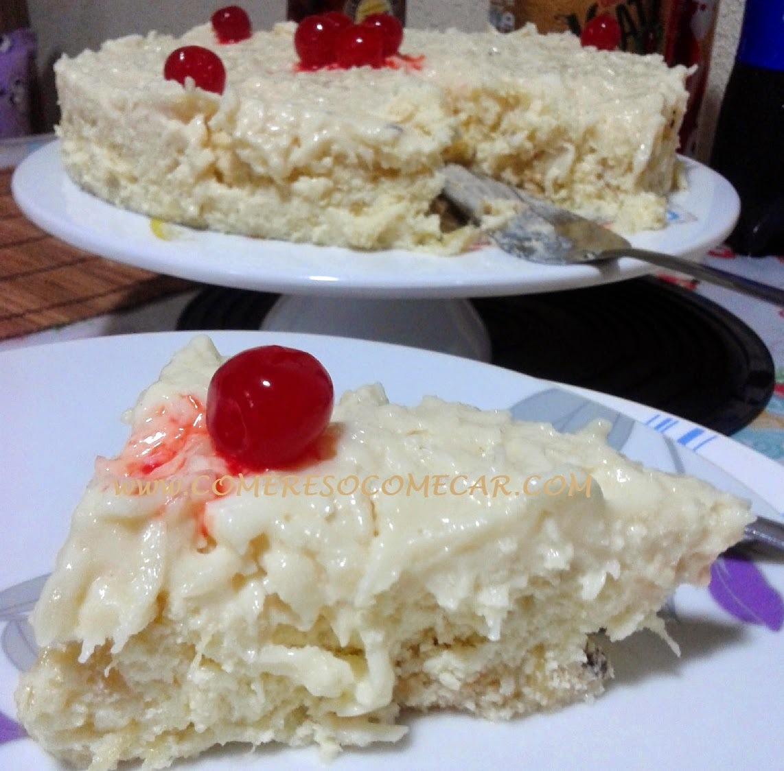 torta mousse de chocolate feito com chantilly