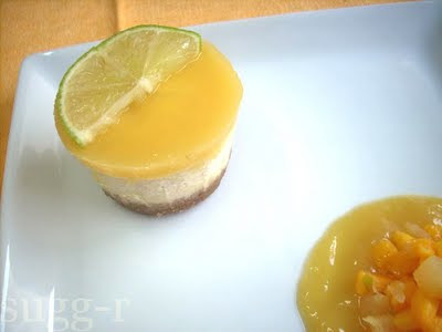 [whole kitchen] new york cheesecake...con mango y limón!