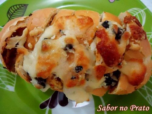 Pão Sanfona com Patê de Sardinha