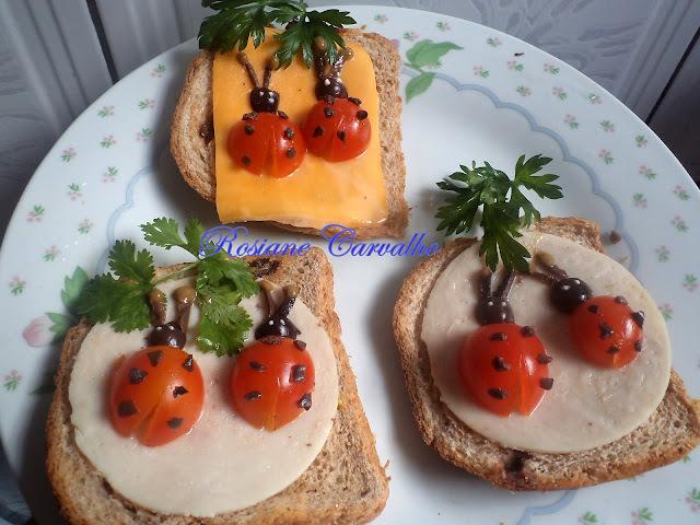 Sanduíches Joaninhas