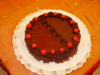 Tarta de Chocolate con Dulce de Leche